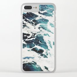 Sea Waves Photo Clear iPhone Case