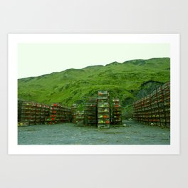 Stack of Commercial Crab Pots  Art Print