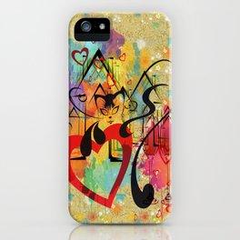 Liebe ist in der Luft - love is in the air iPhone Case