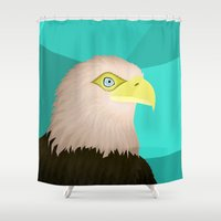 eagle Shower Curtains featuring Eagle by Nir P