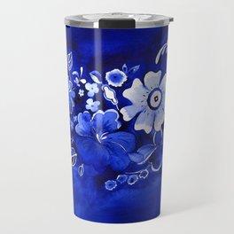 Delft Floral Travel Mug