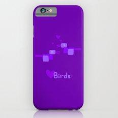 Love Birds-Purple iPhone 6s Slim Case