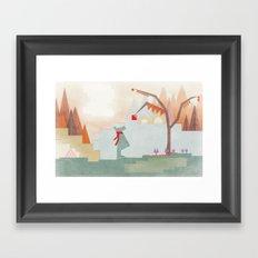 Fashionable Bear Framed Art Print