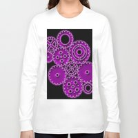 gears of war Long Sleeve T-shirts featuring Purple Gears by WIGEGA