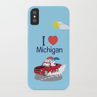 coraline iPhone & iPod Cases featuring Ernest and Coraline | I love Michigan by Hisame Artwork