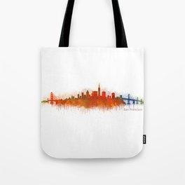 San Francisco City Skyline Hq v3 Tote Bag