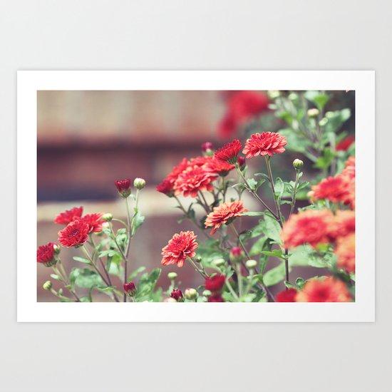 The Red Garden Art Print