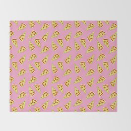 Pizza Pattern By Everett Co Throw Blanket