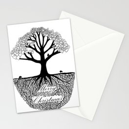 Merry Christmas Tree of Love Stationery Cards