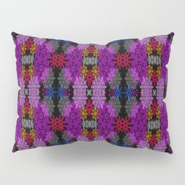 Snowflake III in Purples Pillow Sham