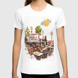 Floating Island in Low Poly style T-shirt