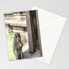 Angkor Wat Long-Tail Macaque (Monkey), Cambodia Stationery Cards