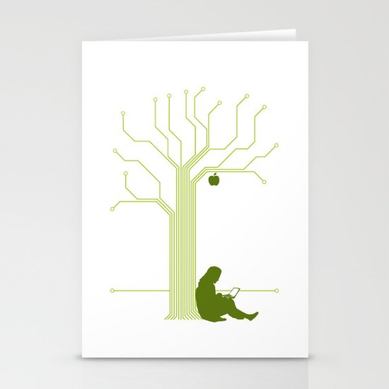 Apple CircuiTree Stationery Cards
