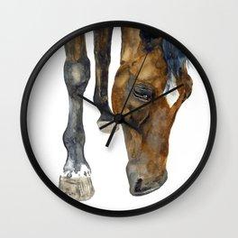 Grazing horse Wall Clock
