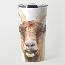 Goat Portrait Travel Mug