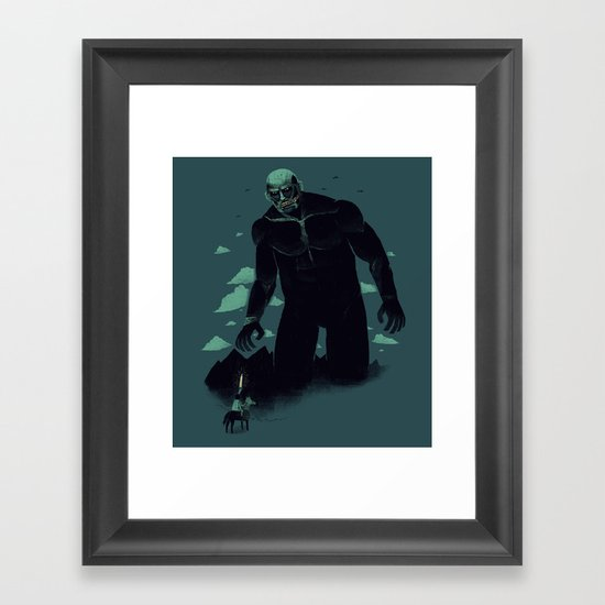 shadow of the titan Framed Art Print
