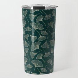 Ginkgo Leaves green Travel Mug