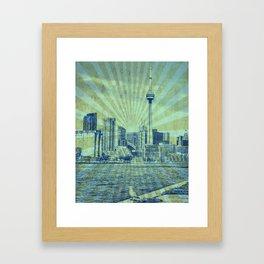 Pigeon Tower Rays Framed Art Print
