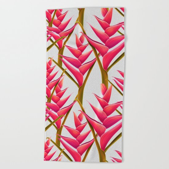 flowers fantasia Beach Towel