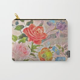 Spring Floral - Painterly Carry-All Pouch