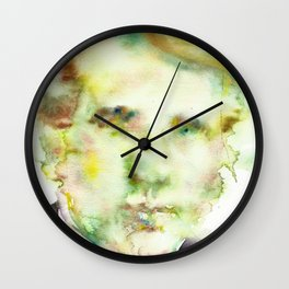 ROBERT FROST - watercolor portrait Wall Clock