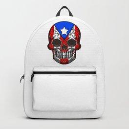 Puerto Rico Sugar Skull - Dia De Los Muertos Backpack