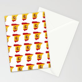 Flag of spain 3-spain,espana, spanish,plus ultra,espanol,Castellano,Madrid,Barcelona Stationery Cards