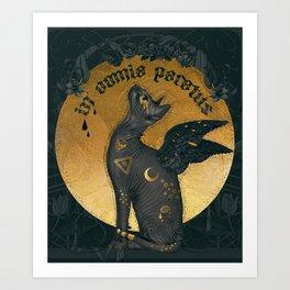 In omnia paratus Art Print