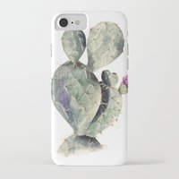 cactus iPhone & iPod Cases featuring CACTUS by Annet Weelink Design