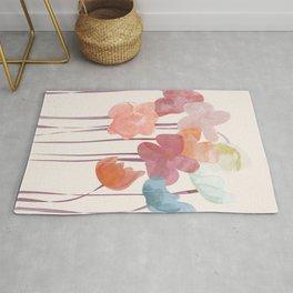 Watercolour Flowers Rug
