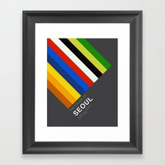 Colors of Seoul Framed Art Print