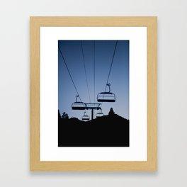 Mammoth Mountain Silhouette Framed Art Print