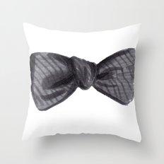 Striped Bow Throw Pillow