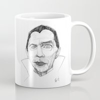 dracula Mugs featuring Dracula by Mark T. Zeilman