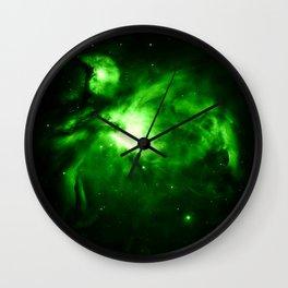 Orion NEBUla : Green Wall Clock