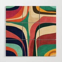 Impossible contour map Wood Wall Art