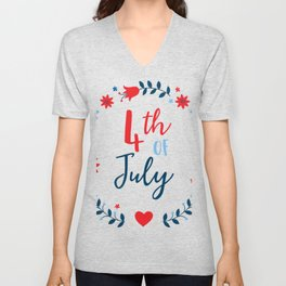 4th of July Unisex V-Neck