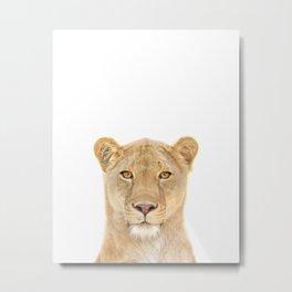 Lioness Art Print by Zouzounio Art Metal Print