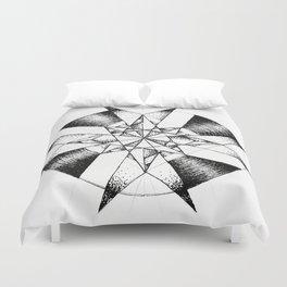 Crystalline Compass Duvet Cover