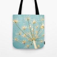 umbrella Tote Bags featuring Umbrella by Cassia Beck