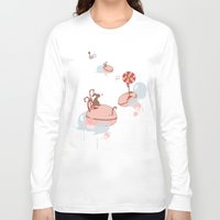 "macaroon Long Sleeve T-shirts featuring Macaroon Heaven by Barbora ""Mad Alice"" Urbankova"