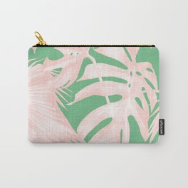 Island Love Seashell Pink + Green Carry-All Pouch