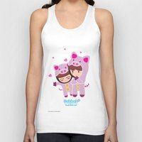 suits Tank Tops featuring Piggy-Suits by I love Bubbah