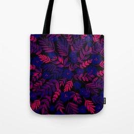Neon Floral Print Tote Bag