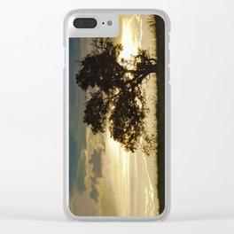 """Monsoon Sunset 2"" by Murray Bolesta Clear iPhone Case"