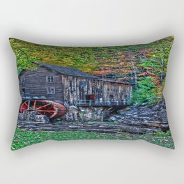 Old Grist Mill Babcock State Park WV Rectangular Pillow