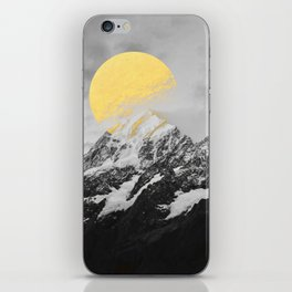 Moon dust mountains iPhone Skin