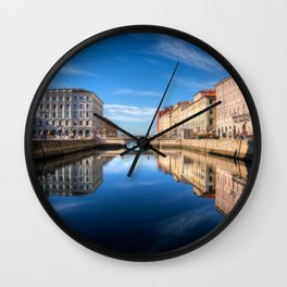 Sunny morning in Trieste, Italy. Wall Clock