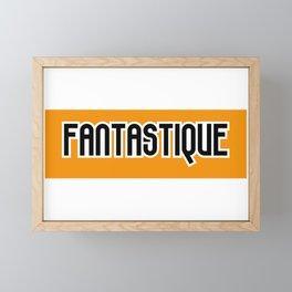 Fantastique Orange et noir Framed Mini Art Print
