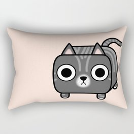 Cat Loaf - Grey Tabby Kitty Rectangular Pillow